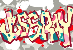 Another graff piece I did in Corel Painter