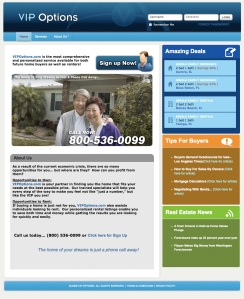 VIPOPTIONS web design