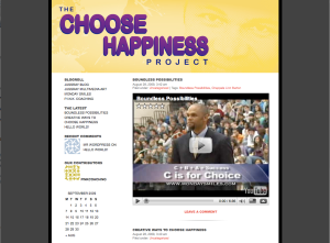 Image of Choose Happiness Blog